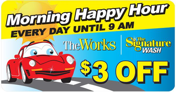 Morning Happy Hour - Car wash coupon