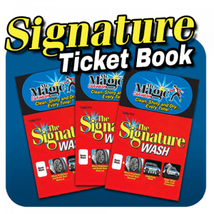 Mr. Magic Signature Wash Ticket Book