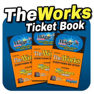 The Works Wash ticket book