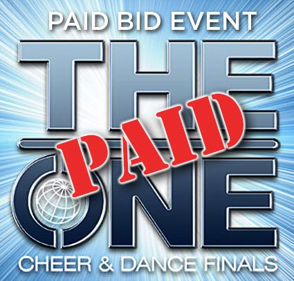 Paid bids to THE ONE Cheer & Dance